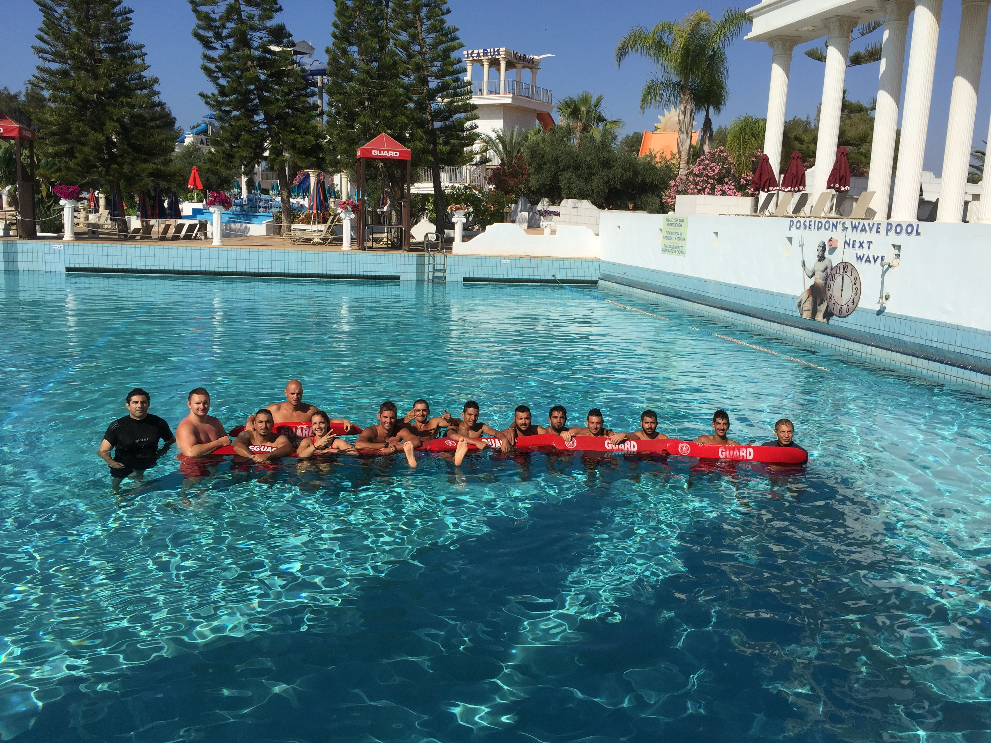 Waterworld Waterpark Group Image Lifeguards